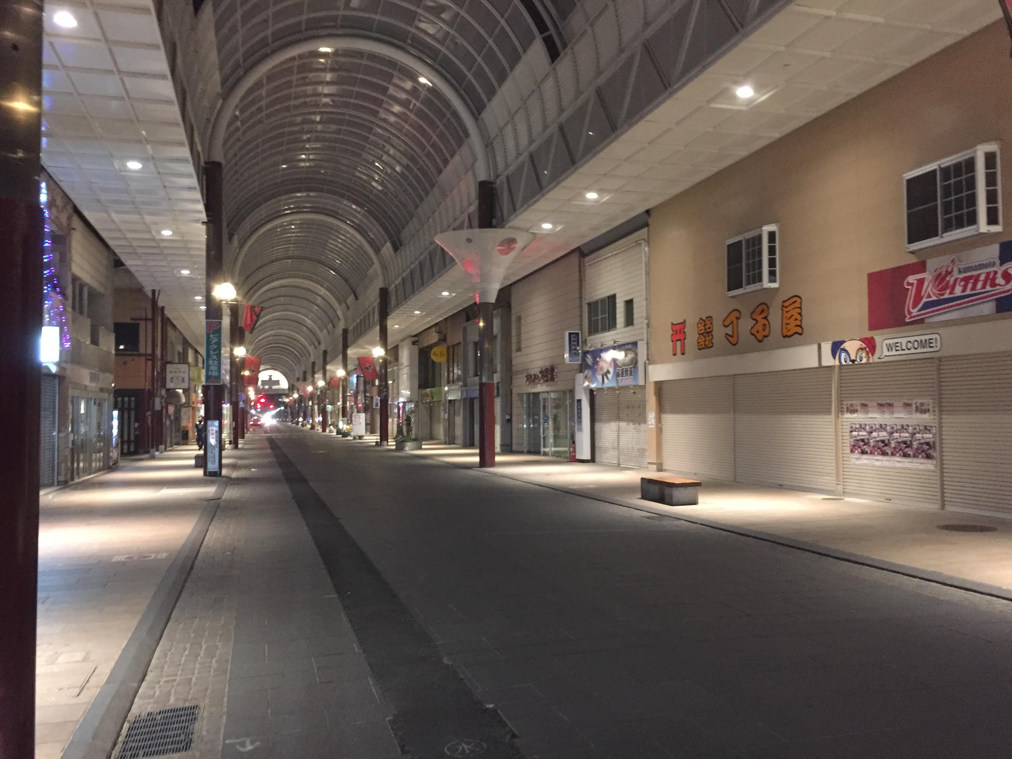 リアルなシャッター商店街