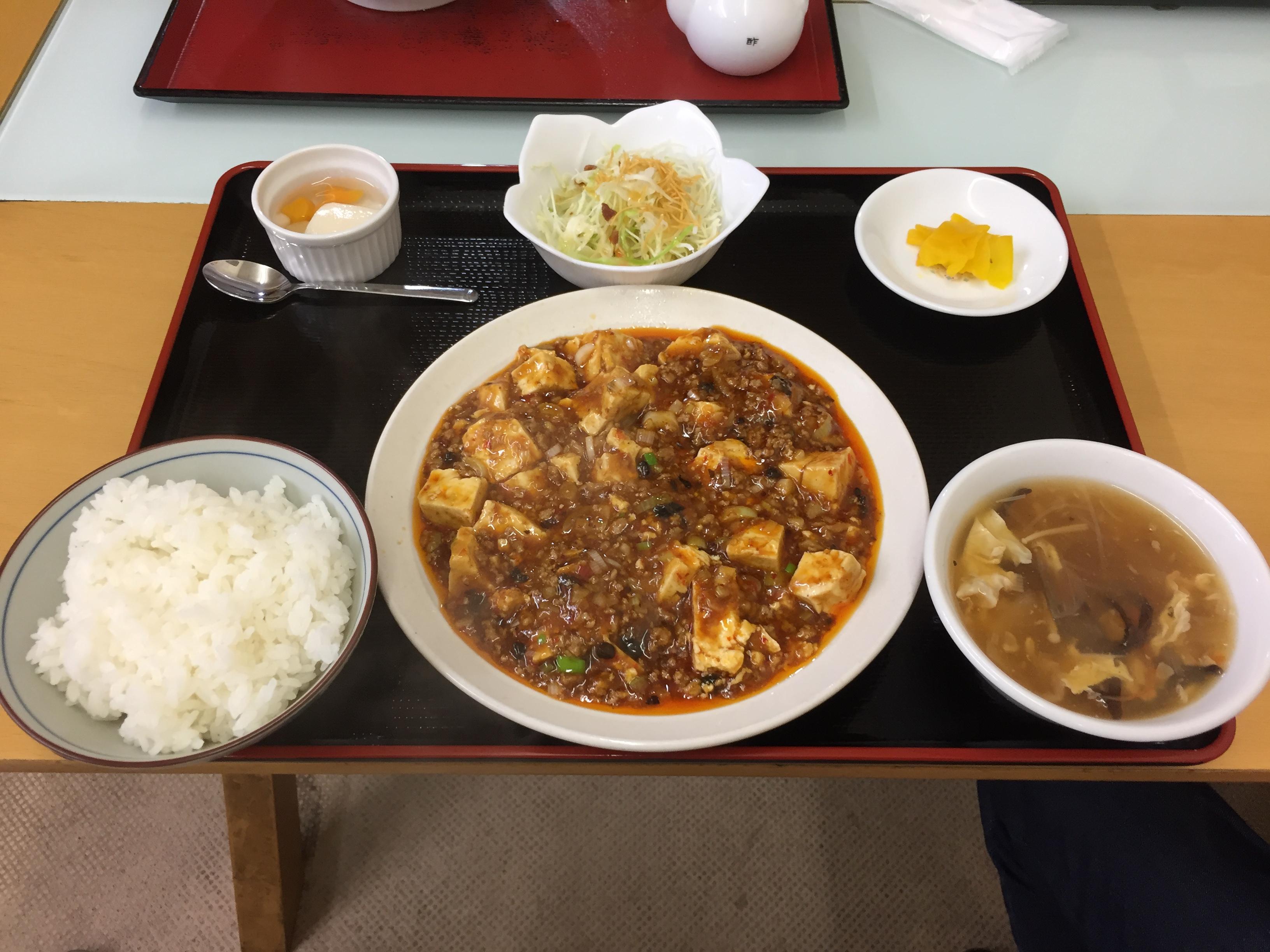 マーボ豆腐定食 850円